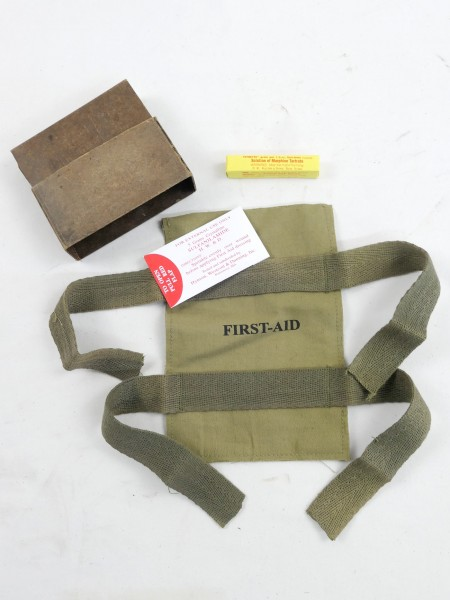 Paratrooper Normandie first aid kit - Pouch Morphine Solution Dressing Sulfanilamide