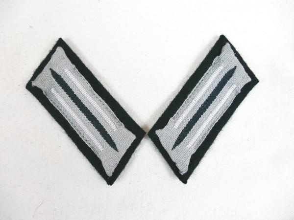 Wehrmacht M36 Kragenspiegel Infanterie Waffenfarbe weiß für Mannschaften + Unteroffiziere