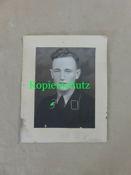 Großes Foto / Portrait junger SS Soldat - Allgemeine SS