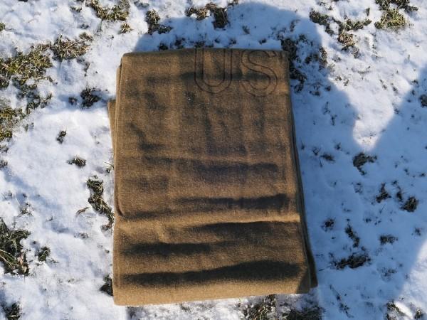 US ARMY Wolldecke Modell 1934 / Hergestellt 1951 / WW2 wool Virgin Blanket Depot