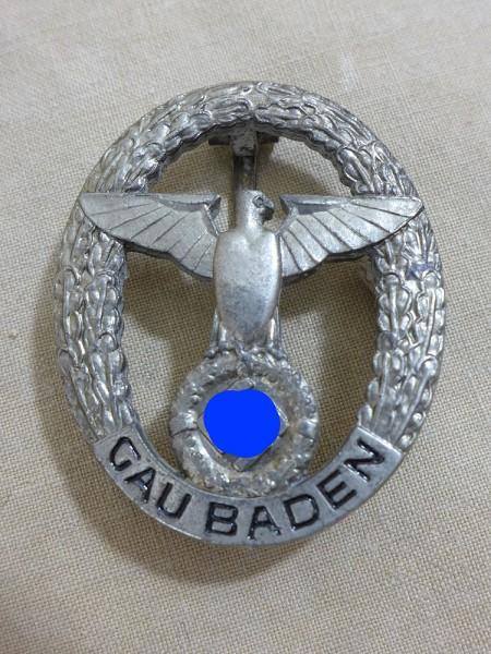 NSDAP Gau Baden Ehrenzeichen Abzeichen Gauabzeichen silber