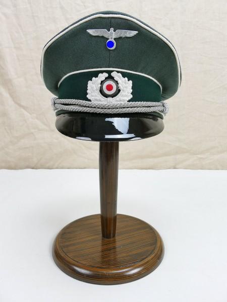 Wehrmacht Gabardine Schirmmütze Offizier Infanterie Gr. 58