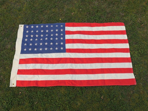 US ARMY WW2 Vintage Camp Jeep Fahne 48 Sterne Stars & Stripes Flagge Baumwolle 155x93cm