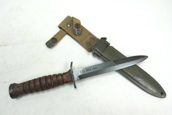 US WWII M3 Kampfmesser Messer mit Scheide