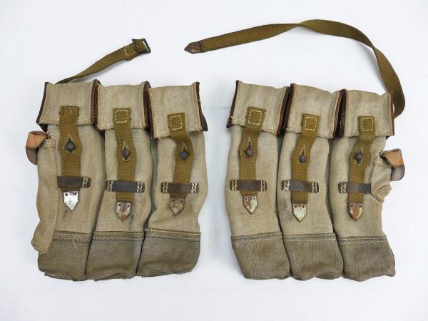 #10 Wehrmacht 2x Magazintasche Paar Sturmgewehr 44 Blauer Streifen STGW44 MP44 MKB Afrikakorps