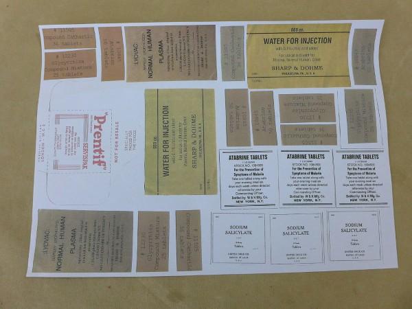 US Paperware für Sanitäter Etiketten Bastelbogen