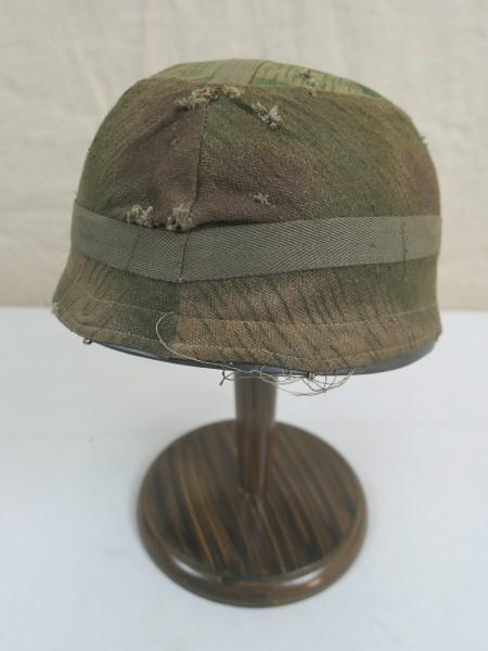 WW2 Helmbezug Sumpftarn + Splittertarn Helmtarnbezug Fallschirmjägerhelm Luftwaffe FJ M38