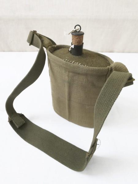 GB Feldflasche Wasserflasche englisch WW2 komplett Webbing Beriemung Riemen