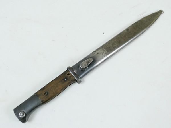 Original Wehrmacht Bajonett K98 + Scheide / Seitengewehr gestempelt