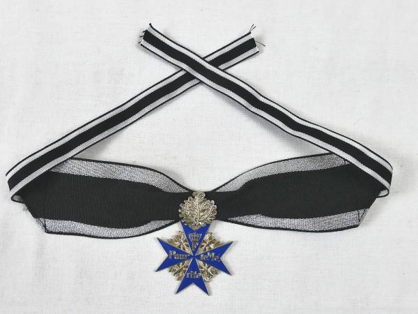 Orden Pour le Mérite mit Eichenlaub am Band / Blauer Max Gfm Rommel