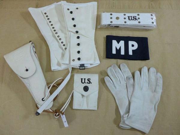 SET US MP COLT Holster Koppel Handschuhe Armbinde Gamaschen 3R Militärpolizei