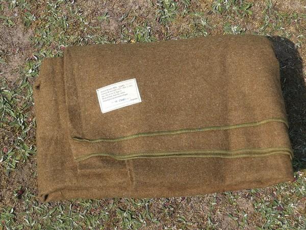 1942 Original US ARMY WW2 Wool Virgin Blanket OD Wolldecke Decke WK2