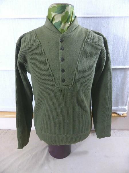 US Army WW2 GI High Neck Shirt Pullover Strickpullover Winter Zusatz Bekleidung