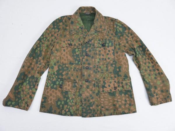 Waffen SS Cotton Viertaschenrock Tarnjacke Erbsentarn M44 Top Vintage Optik Gr.48