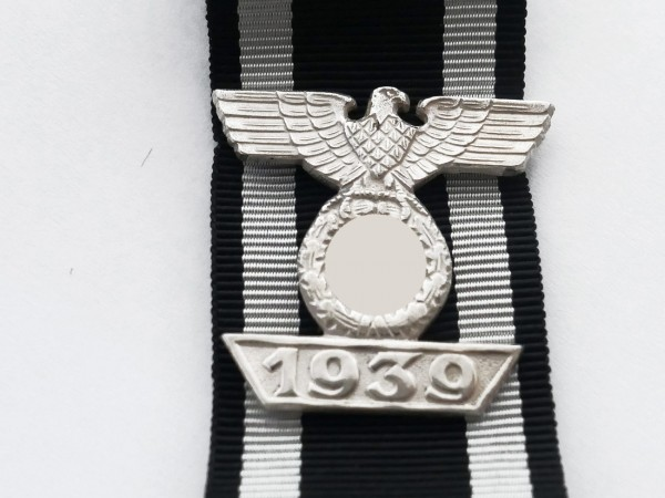 Wiederholungsspange 1939 am Band zum Eisernen Kreuz 1. Klasse 1914 / EK1