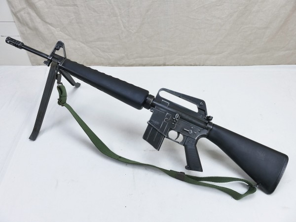 US M16 M16A3 Sturmgewehr mit Trageriemen u. Zweibein - Antik Deko Modell Filmwaffe