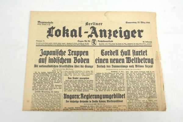 WK2 Zeitung Berlin Tageszeitung - Berliner Lokal-Anzeiger 23.März 1944 - Morgenausgabe