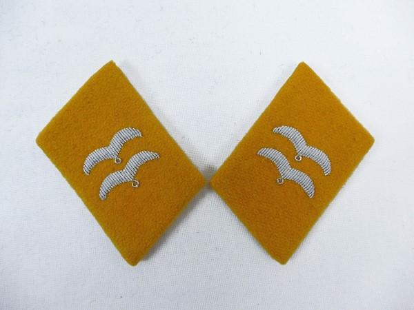 WW2 Luftwaffe Kragenspiegel LW Fliegerbluse Gefreiter / UFw Fallschirmjäger
