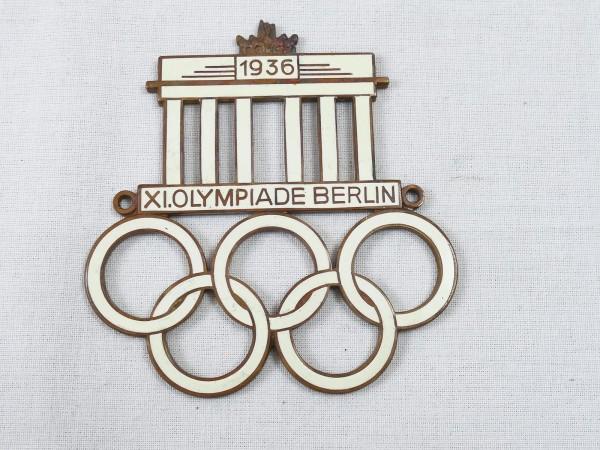 Automobilplakette XI. Olympiade Abzeichen Olympia Berlin 1936 Plakette
