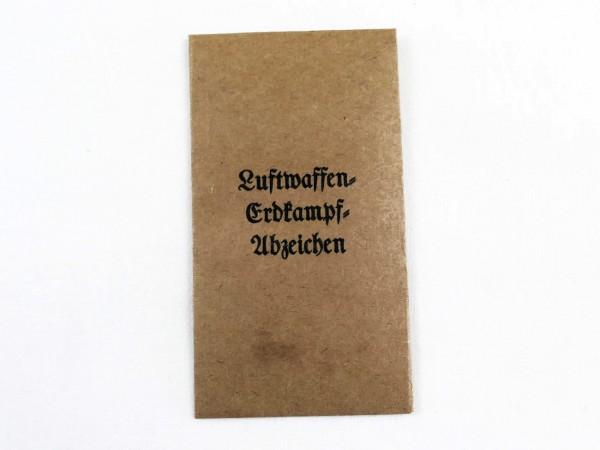 Verleihungstüte Luftwaffe Erdkampf Abzeichen (418)