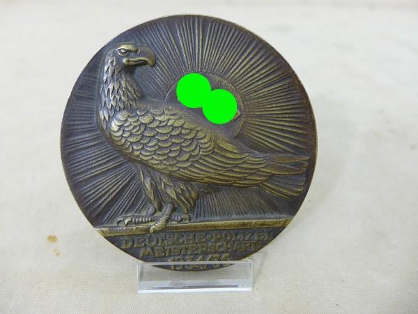 Ehrenpreis Plakette des Reichsministers des Innern für die Deutschen Polizei Meisterschaften 1934/3
