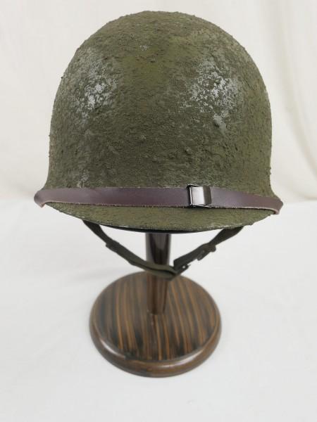 Typ US Army WW2 M1 Steel pot helmet Stahlhelm Glocke + Liner Innenhelm + Kinnriemen