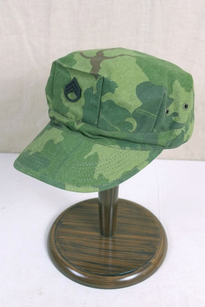 US Army Vietnam Patrol Cap Mitchell Leaf Pattern Staff Sergeant Jungle Gr.58
