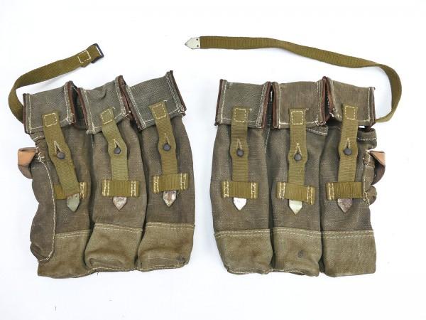 #01 Wehrmacht 2x Magazintasche Paar Sturmgewehr 44 Tropen Südfront STGW44 MP44 MKB Spätkrieg
