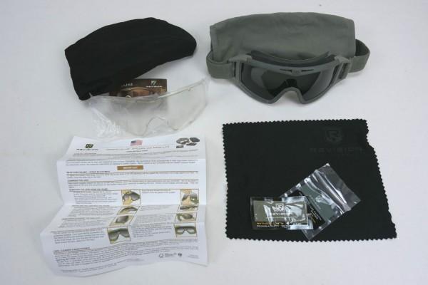 US Revision Desert Locust Glas Schutzbrille Goggles / Ballistische Brille getönt oliv