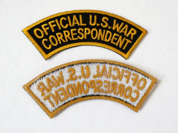 US Army Abzeichen OFFICIAL U.S. WAR CORRESPONDENT