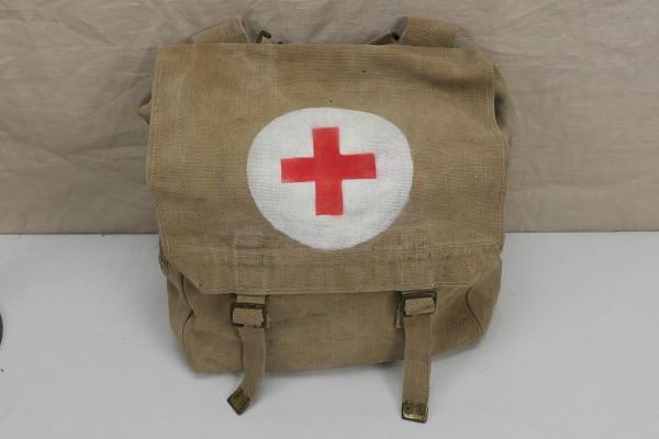 Original WW2 British Army red Cross webbing bag große Sanitäter Tasche Rotkreuz