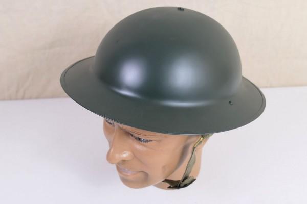 British Army WW2 helmet Tellerhelm Stahlhelm Gr.57 mit Helmfutter und Kinnriemen