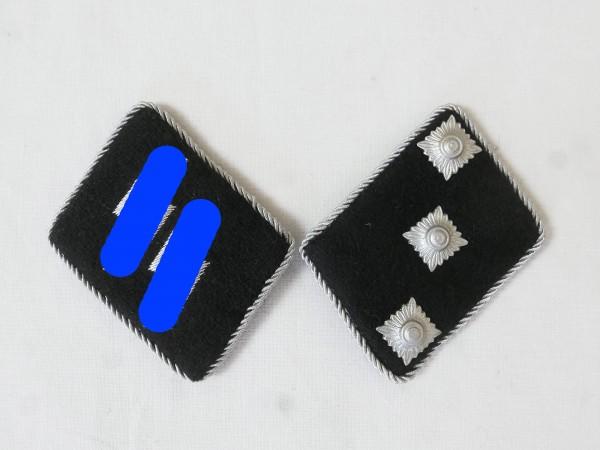 Waffen Elite Kragenspiegel / Untersturmführer Leutnant , Paar