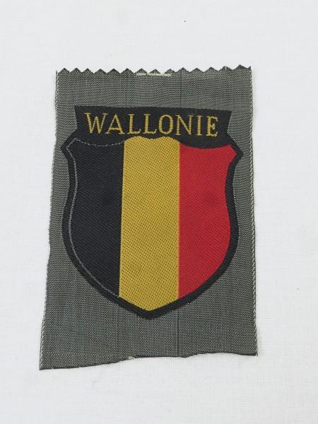 Wallonie Freiwilligen Ärmelabzeichen Feldbluse Uniform Ärmelschild Elite