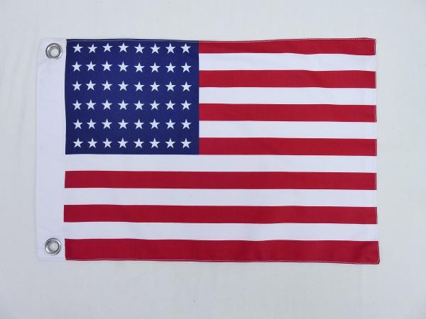US ARMY WW2 Vintage Camp Jeep Fahne 48 Sterne Stars & Stripes Flagge 2 Lagen 45x30cm