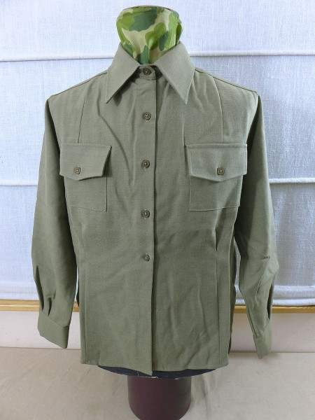 US ARMY WAC Damen Hemd Uniform Women Mustard Service Shirt Dress