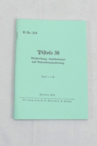 Beschreibung Handhabung und Behandlungsanleitung - Pistole 38 - Heft Broschüre