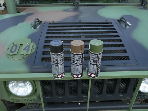 400ml Farbe, Grundpreis 25,00 €/L, Restaurations Farbe MATT Nato Tarnfarbe H1 Humvee Hummer