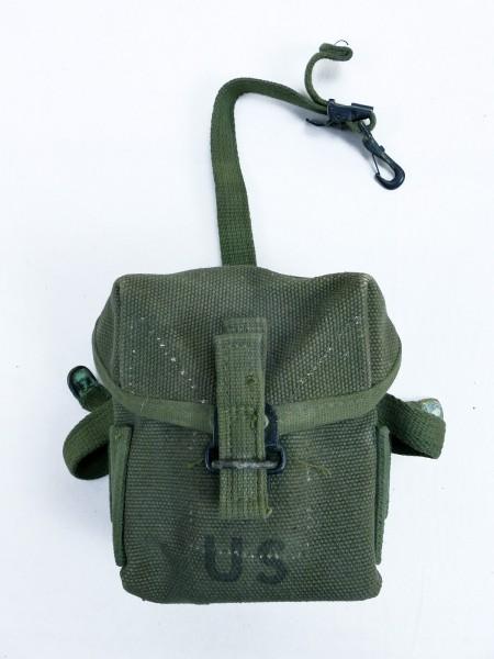"#A US ARMY Vietnam Case small arms Ammunition pouch Magazintasche ""kurz"" M16 M16A1 Rifle"