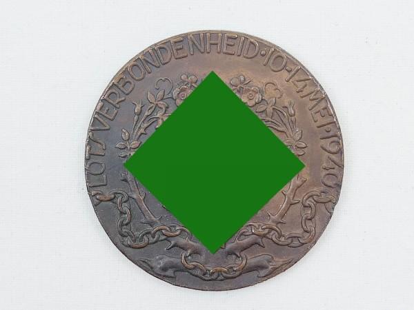 NS Gedenk Bronze Medaille des holländischen NSB Niederlande Holland 3. Reich