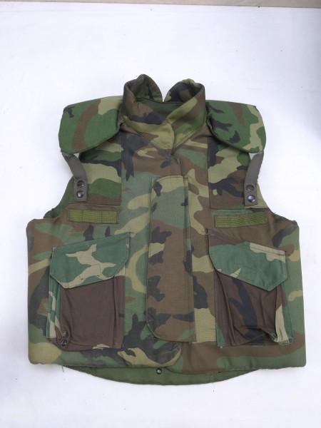 Armor Body Fragmentation Protective Flak Vest Woodland Medium 1983