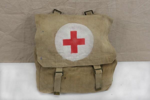 Original WW2 British Army red Cross webbing bag große Sanitäter Tasche Rotkreuz 1942
