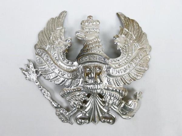 Messing Adler Linienadler Zierrat Silber für Helm Pickelhaube Preussen Ersatzteil groß