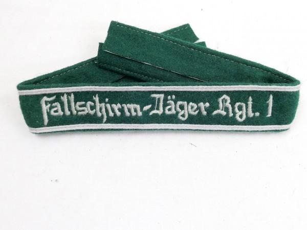 Wehrmacht Ärmelband Fallschirm-Jäger-Rgt. 1 Ärmelstreifen Fallschirmjäger Regiment