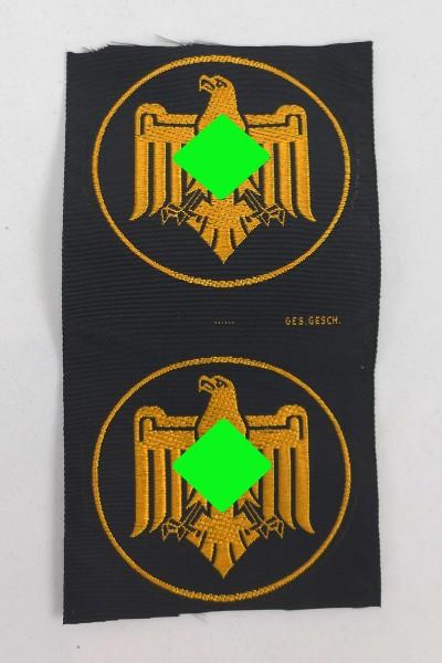 2 Stück Mitglieds Abzeichen Nationalsozialistischer Reichsbund für Leibesübungen (NSRL)