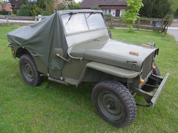 US Army Rain Cover Willy's Jeep MB Persenning Abdeckung Ford GPW Hotchkiss Regenschutz