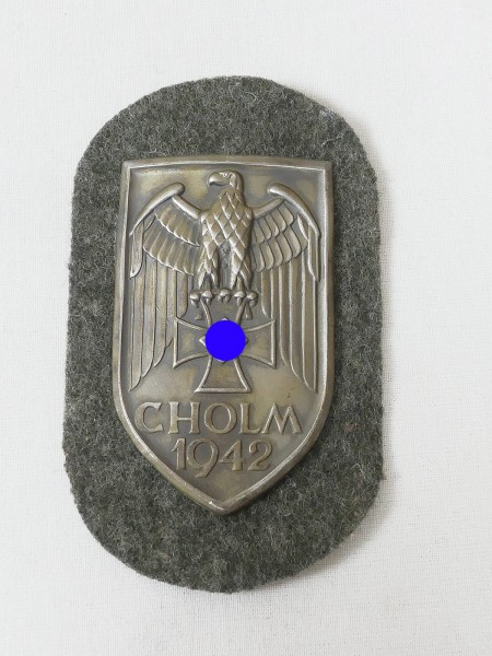 Wehrmacht Ärmelschild Cholm 1942 Cholmschild Feldbluse F.A.D.