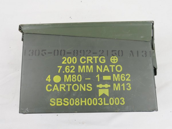 US Style Munitionskiste Munikiste Metall Box 200x CAL.7.62 MM Nato