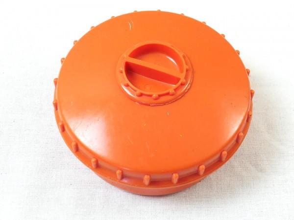 Dose Vorrat Gewürze Salz / Pfeffer / Butterdose / Behälter / Vorratsdose mit Streuer orange