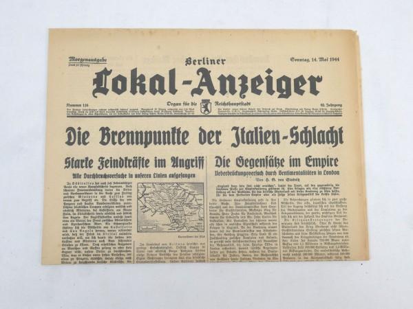 WK2 Vollständige Tageszeitung - Berliner Lokal-Anzeiger 14.Mai 1944 - Morgenausgabe